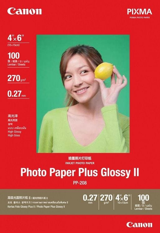 """Canon PP-208 4 X 6"""" Photo Paper Plus Glossy (100 sheets)"""