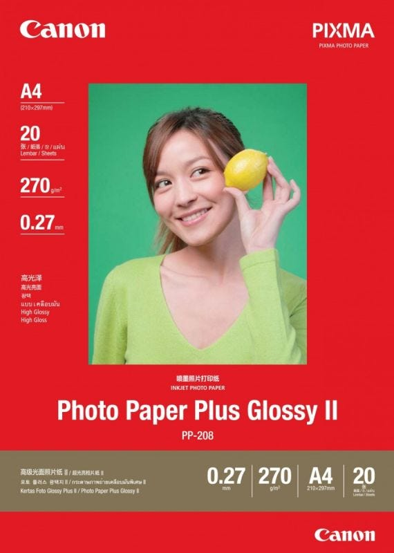 Canon PP-208 A4 (20 shts) Photo Paper Plus Glossy II