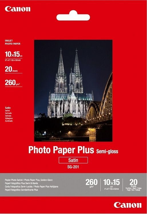Canon SG-201 4R Semi Glossy Photo Paper (20 sheets)