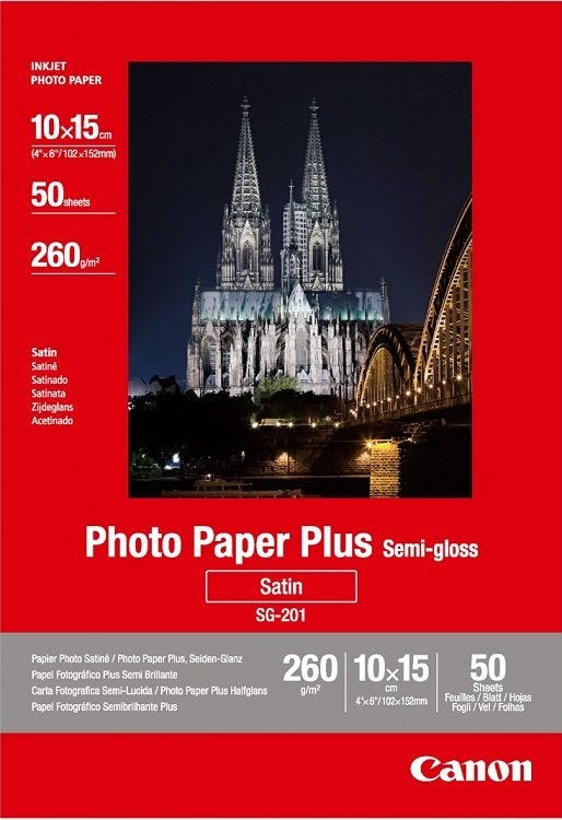 Canon SG-201 4R Semi Glossy Photo Paper (50 sheets)