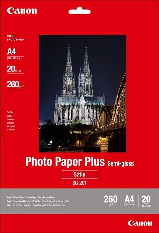 Canon SG-201 A4 Semi Glossy Photo Paper (20 sheets)