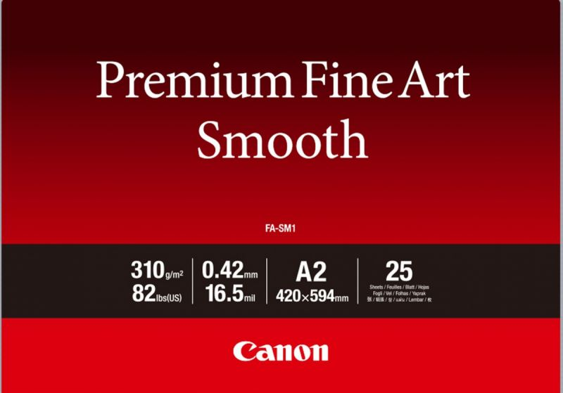 Canon Premium Fine Art Smooth FA-SM1 A2 (25 sheets)