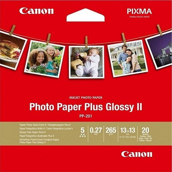 "Canon PP-201 5""x5"" Photo Paper Plus Glossy (20 sheets)"