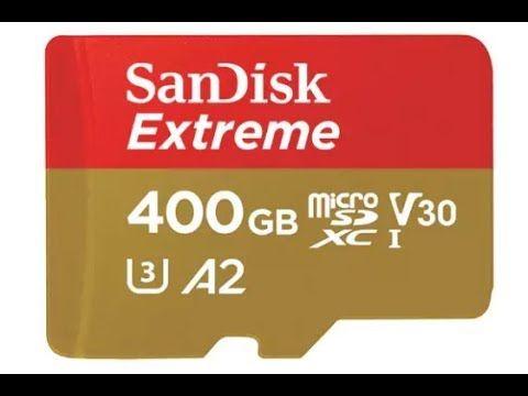 SanDisk MicroSD Extreme V30 U3 UHS-I C10 A2 - 400GB