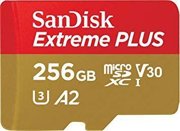 SanDisk MicroSD Extreme V30 U3 UHS-I C10 A2 - 256GB