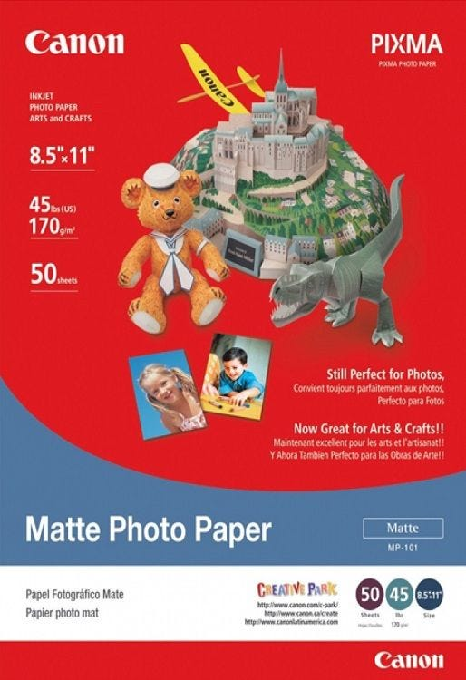 Canon MP-101 4R Matte Photo Paper (120 sheets)