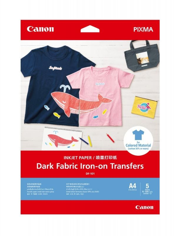Canon DF-101 (Dark Fabric Iron-on transfer) - 5 Shts