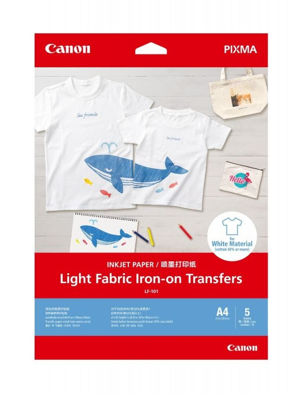 Canon LF-101 (Light Fabric Iron-on transfer) - 5 Shts