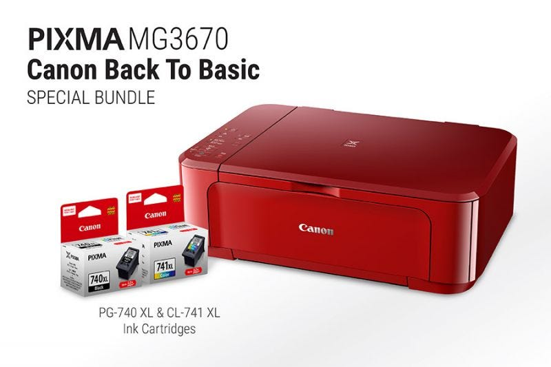 Canon Back to Basic - PIXMA MG3670 (Red)