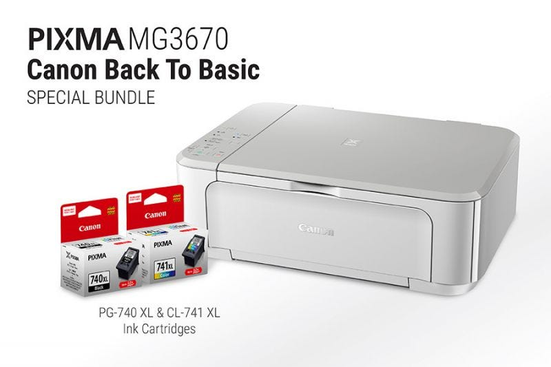 Canon Back to Basic - PIXMA MG3670 (White)