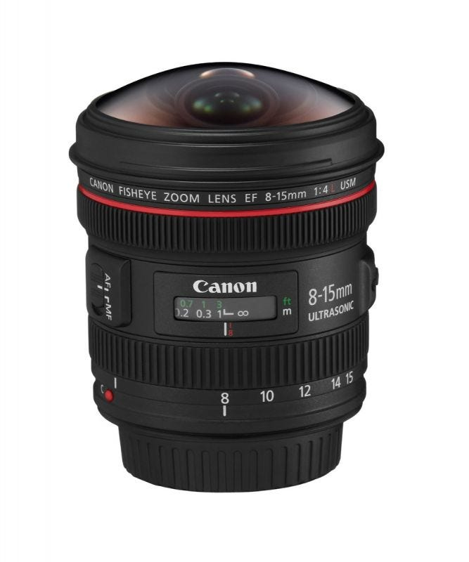Canon EF8-15mm f/4L Fisheye USM