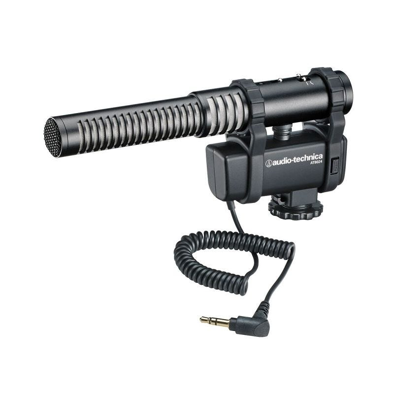 Audio-Technica AT8024 Stereo/Mono Camera-Mount Mic (3.5mm)