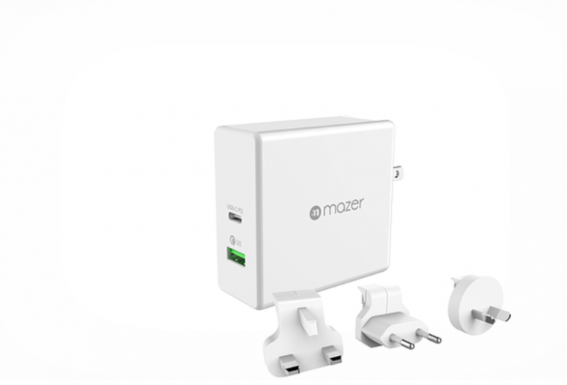 Mazer EnerG.BOOST 45W TRAVEL USB-C PD+QC3.0 Wall Charger