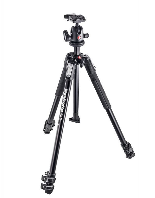 Manfrotto 190X Aluminium 3-Section Tripod with 496RC2 Ball Head