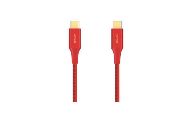 Mazer USB-C to USB-C 3.1A/1.2M Red