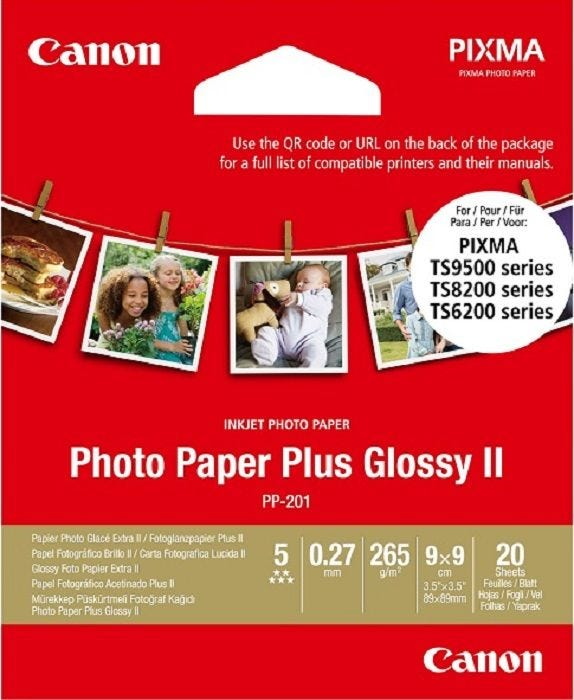 "Canon PP-201 Square 3.5"" x 3.5"" (20 Sheets)"