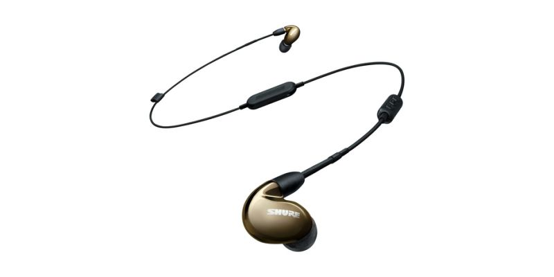 Shure SE846 SOUND ISOLATING™ EARPHONES - Quad MicroDrivers with True Subwoofer Earphone with Uni & Bluetooth Cable, Bronze