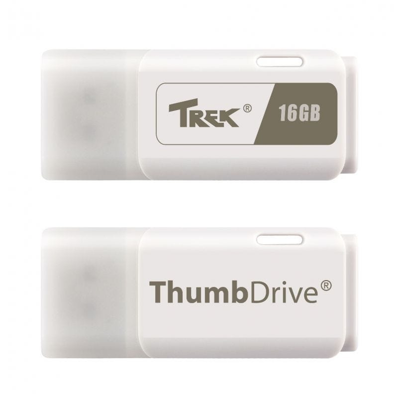 TREK Thumbdrive white 16GB