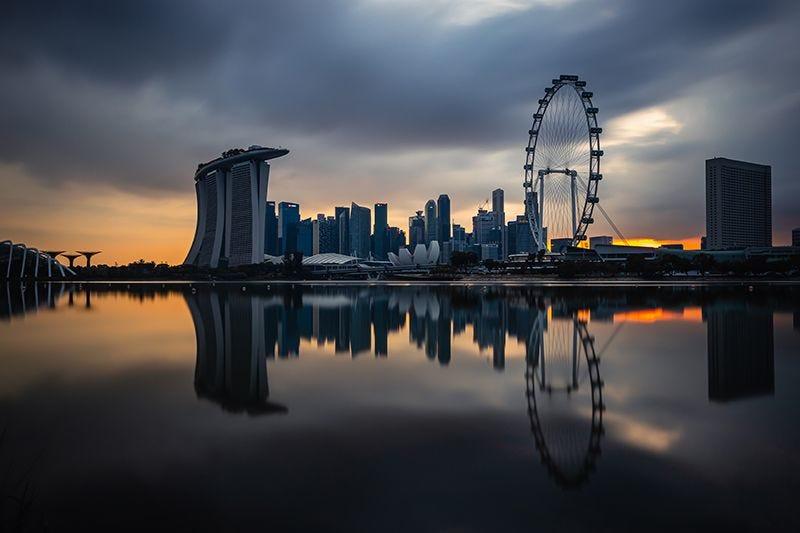 Singapore Urban Landscape on Premium Canvas Print (Urban_01)