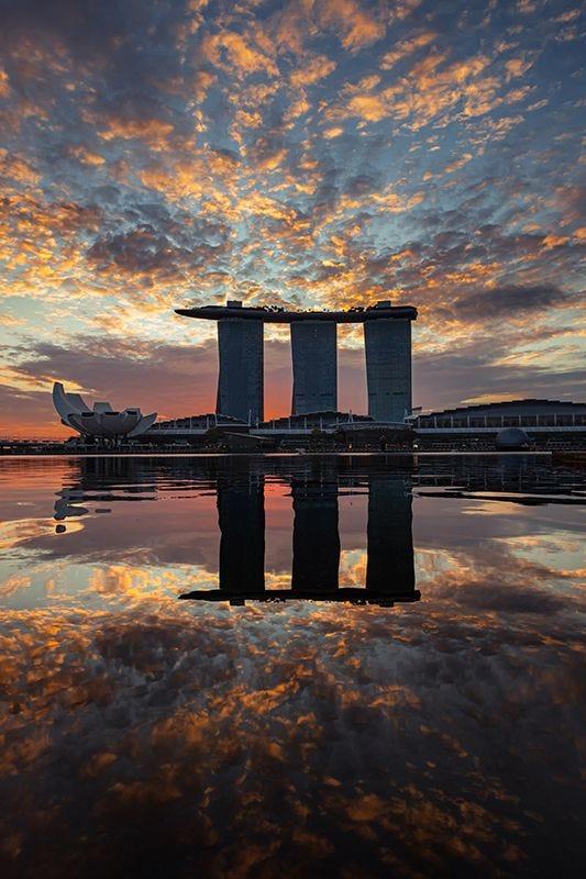 Singapore Urban Landscape on Premium Canvas Print (Urban_03)
