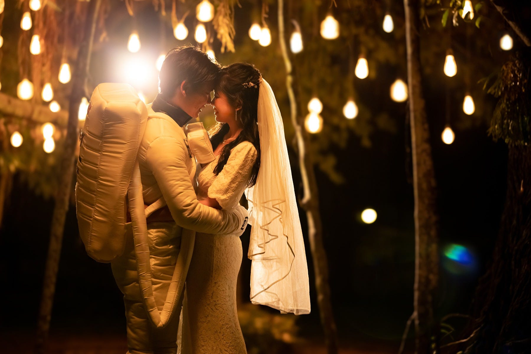 Romantic night shot on Canon EOS R6, demonstrating the versatility of light in any photoshoot