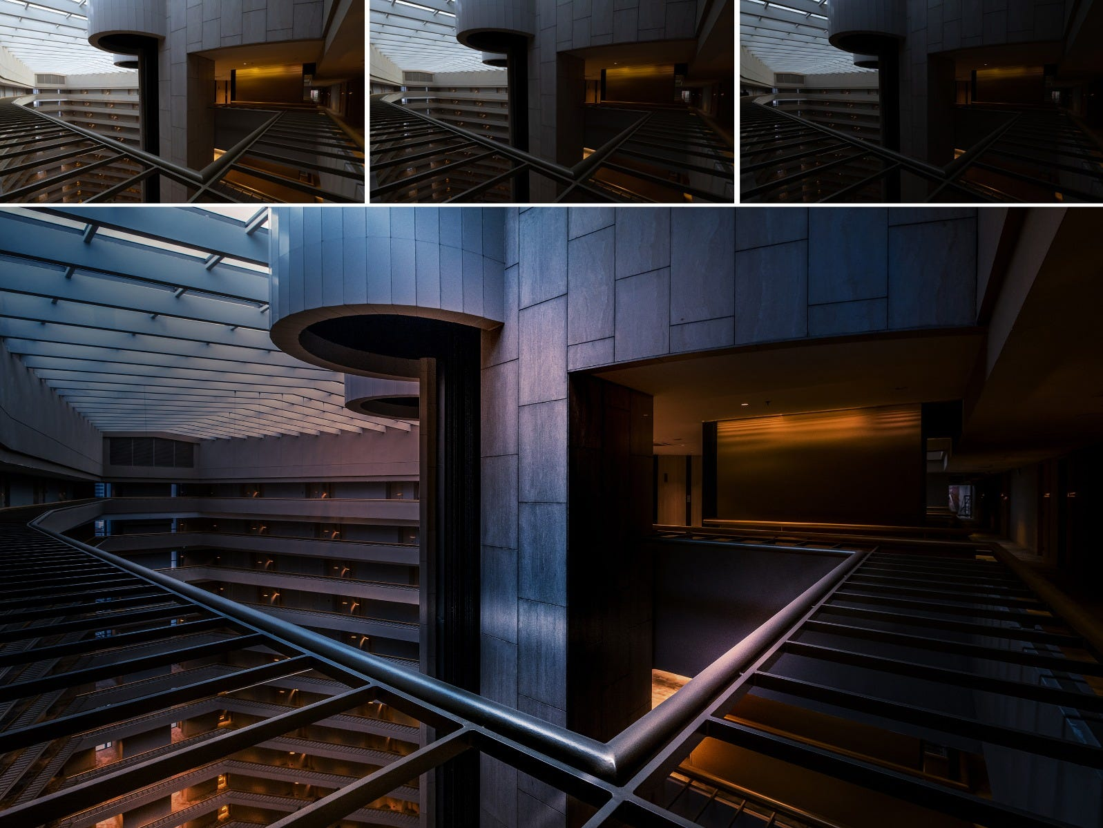 3 differently exposed shots of Park Royal Pickering interior composited into one final photo