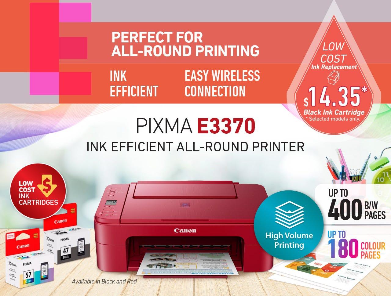 Ink Efficient All-Round Printer - PIXMA E3370