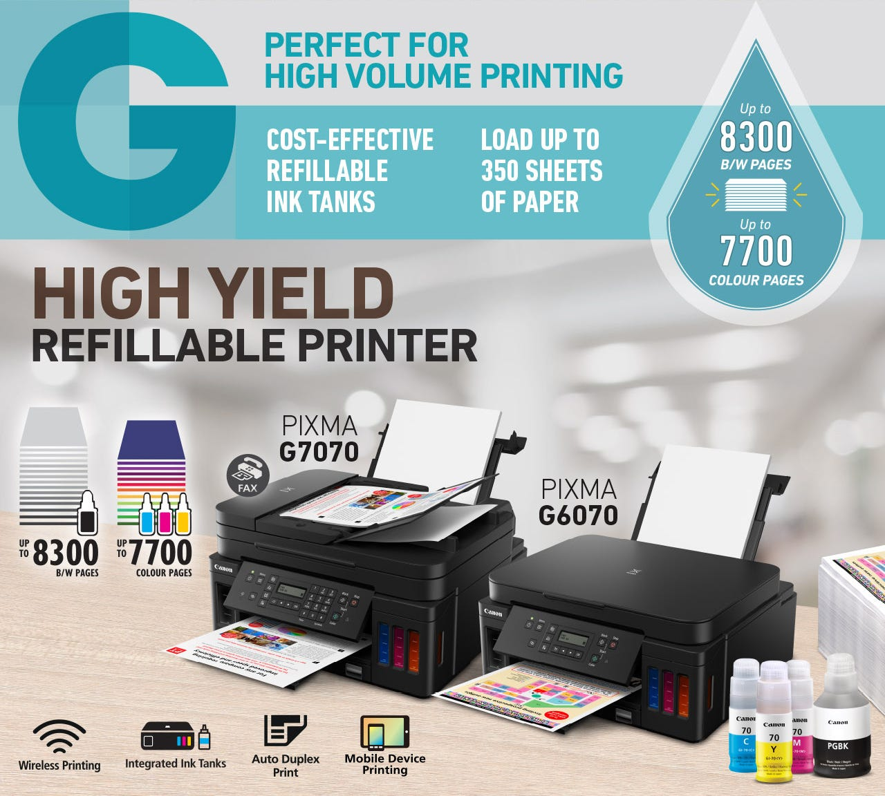 For High Volume Printing - PIXMA Gseries