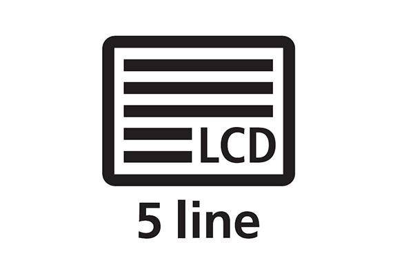 5 Line LCD Display
